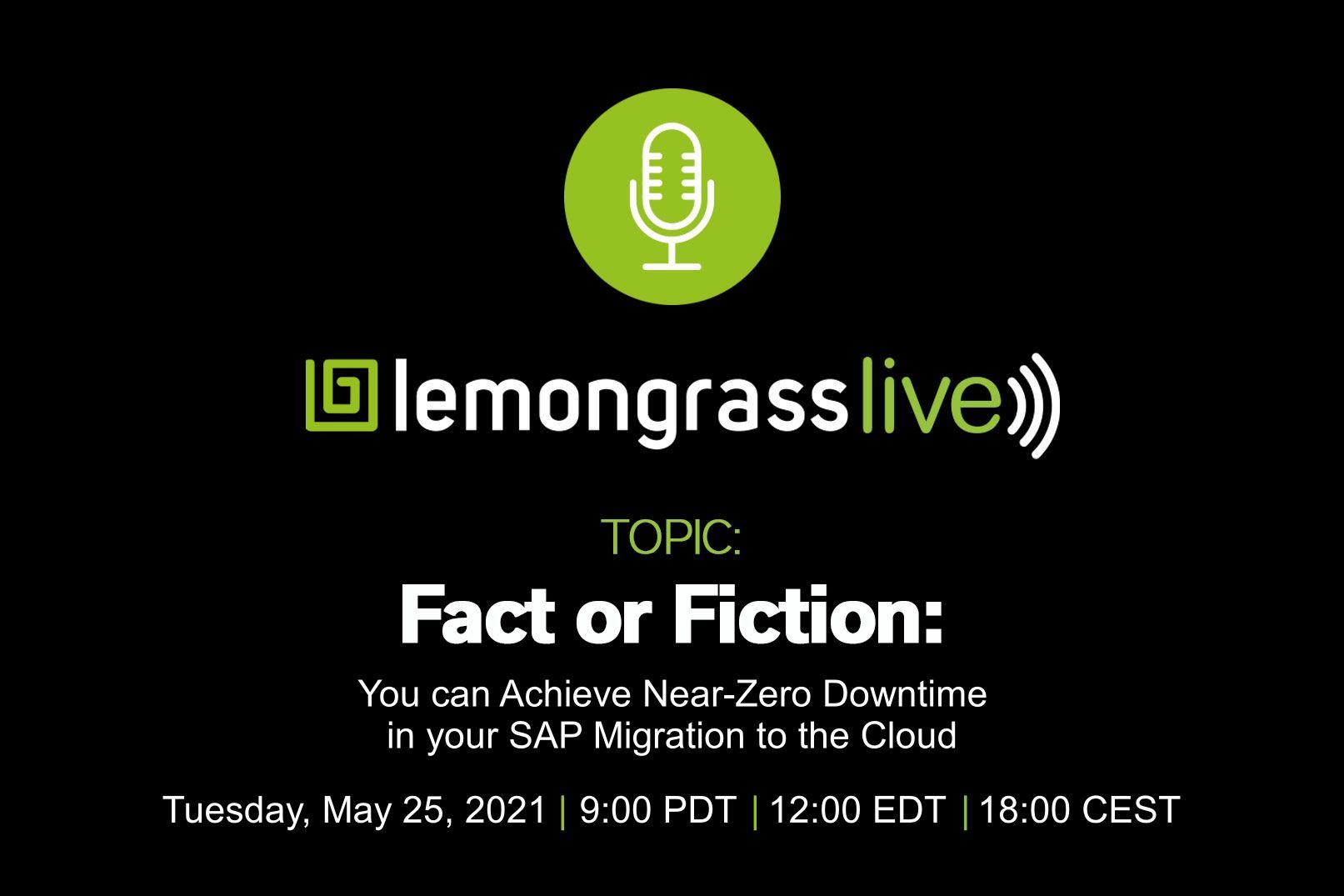 Lemongrass Live - near zero downtime SAP migration